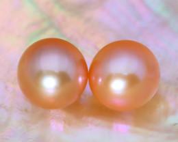 8.0mm 7.40Ct Natural Australian South Sea Orange Color Pearl B1933
