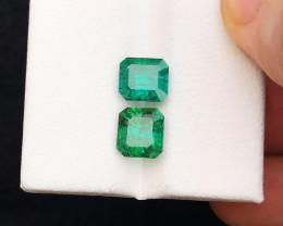 3.25 Ct Natural Blue & Green Transparent Tourmaline Gemstones Parcels