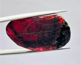Stunning Natural color Gemmy Quality Garnet Slice 32Cts-GN32