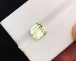 HGTL CERTIFIED 2.40 Ct Natural Light Green Transparent Tourmaline Gemstone