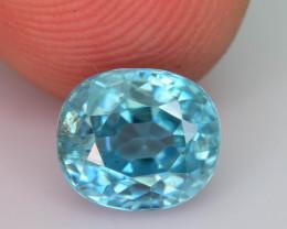 AAA Brilliance 2.55 ct Blue Zircon Cambodia