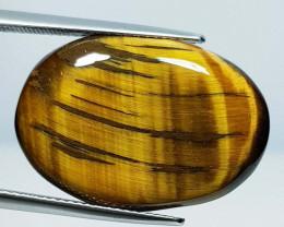 22.62 ct Natural Tiger eye Oval Cabochon  Gemstone