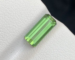 1.30 carats Transparent Green   colour Tourmaline Gemstone From  Afghanista