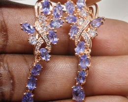 Stunning $875 Natural 45.0tcw. Tanzanite Earrings Unheated