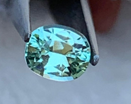 Mint Green Oval Tourmaline Faceted Gemstone~Afghanistan