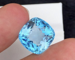 Stunning 21.65 Ct Fancy Cushion Natural Blue Topaz Gemstone