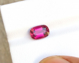 1.75 Carats Natural Rubellite Tourmaline Cut Stone from Afghanistan