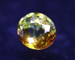 Sphene 1.34Ct Natural Rainbow Flash Chartreuse Green Sphene D2421/A51