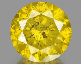 Diamond 1.07 Cts Sparkling Fancy Yellowish Green Natural Diamond