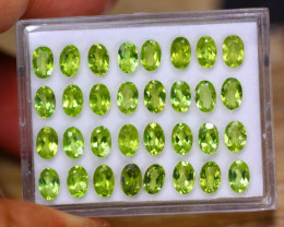 15.34ct Natural Green Peridot Oval Cut Lot B4201