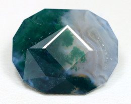 6.68Ct Moss Agate Master Cut Natural Untreated Moss Agate ET13