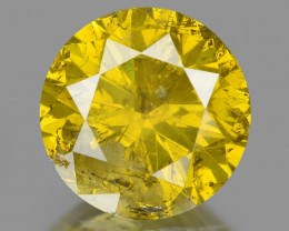 Diamond 1.03 Cts Sparkling Fancy Intense Yellow Natural