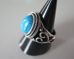 New arrival turquoise tibetan ring size 7