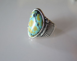 New arrival turquoise tibetan ring size 6