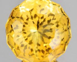 ~CUSTOM CUT~ 4.04 Cts Natural Golden Orange Citrine Fancy Round Brazil