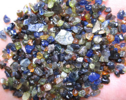 50tcw Of Australian Mine Run Sapphire Sample. Small Size. As It Comes From