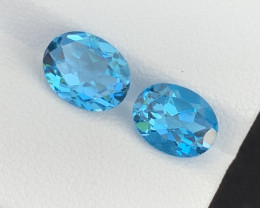 4.50 Cts Natural Blue Topaz Gemstone Good Luster