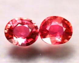 Tourmaline 1.95Ct 2 Pcs Natural Reddish Pink Tourmaline E2502/B49