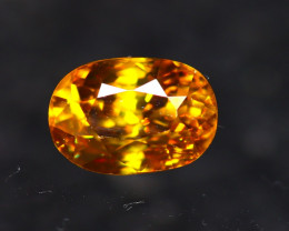 Sphene 1.43Ct Natural Rainbow Flash Chartreuse Green Sphene E2517/A51