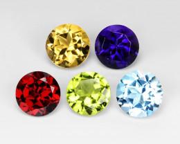 *NoReserve*Fancy Gemstones 4.10 Cts 5Pcs Mix Color Natural