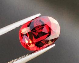 1.61 CT GARNET RHODOLITE ORANGISH RED 100% NATURAL UNHEATED