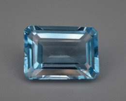 Natural Blue  Topaz  8.60  Cts Top Quality.