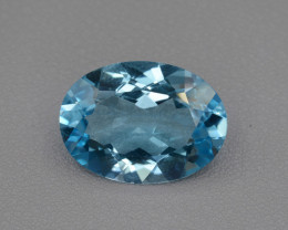 AAA 10.96 Cts Natural Blue Topaz , Top Quality.