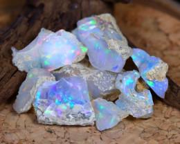 Welo Opal Rough 68.20Ct Natural Ethiopian Flash Color Rough Opal C2302