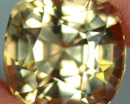 5.58 CT Golden Yellow  Tourmaline Precision Cut and Polished -TSA4