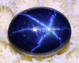 3.58Ct Blue Star Sapphire Natural 6 Rays Blue Star Sapphire B0206