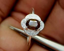 10Crt Sphene 925 Silver Ring Natural Gemstones JI69