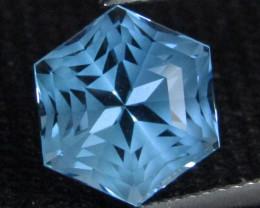 7.70Cts Sparkling Natural Baby  Blue Topaz Octagonal Cut Loose Gem VIDEO