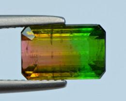 3.07 Carat Tri Color Tourmaline Cut Gemstone