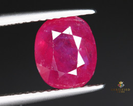 2.19 Carats Natural Ruby from Tajikistan