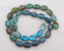D2130 - 181cts Natural Turquoise Gemstone Loose Beads, Turquoise Bead Neckl