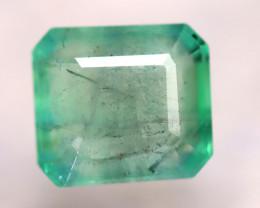 Emerald 3.40Ct Natural Zambia Green Emerald D2610/A38