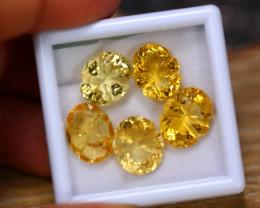 23.79ct Natural Yellow Citrine Fancy Cut Lot B4218