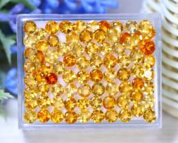 Citrine 24.11Ct VS Round Cut Natural Golden Yellow Citrine Lot B2417