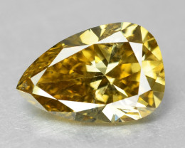 Diamond 0.40 Cts Untreated Natural Fancy Orange Yellow Color