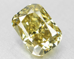 Diamond 0.62 Cts Untreated Natural Fancy Yellowish Green Color - VS2