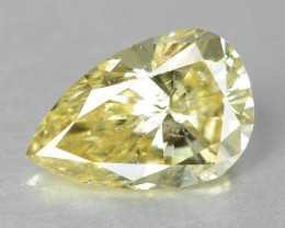 Diamond 0.39 Cts Untreated Natural Fancy Greenish Yellow Color