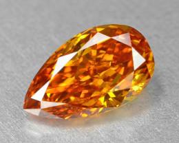 Orange Diamond 0.40 Cts Untreated Natural Fancy Vivid Orange Color
