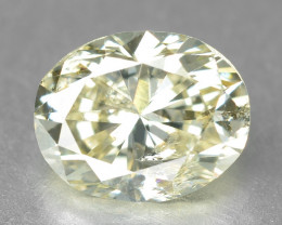 Diamond 0.39 Cts Sparkling Fancy Pale Yellow Natural