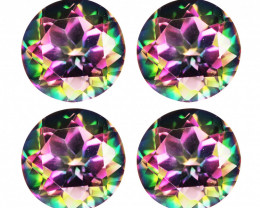 14.42 Cts Cts Rare Fancy Rainbow Colors Natural Mystic Topaz