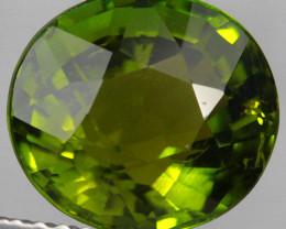 3.66CT 10X9MM Pistachio Green Natural Mozambique Tourmaline-PTA855