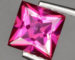 2.60 CTS SUPERIOR! TOP QUALITY SQUARE CUT HOT PINK-TOPAZ GENUINE NR