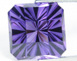 9.64Cts Unique Ultra Quality Natural Amethyst Radiant Checker Cut  Loose Ge