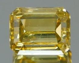 *$15NR*Pistachio Green Diamond Emerald Cut 0.40Ct