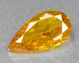 Diamond 0.33 Cts Sparkling Fancy Vivid Orange Natural