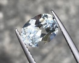 Natural Aquamarine 1.75 cts Sparkling Gemstone